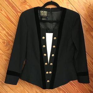 Vintage 80s Escada Couture Wool Suit Jacket